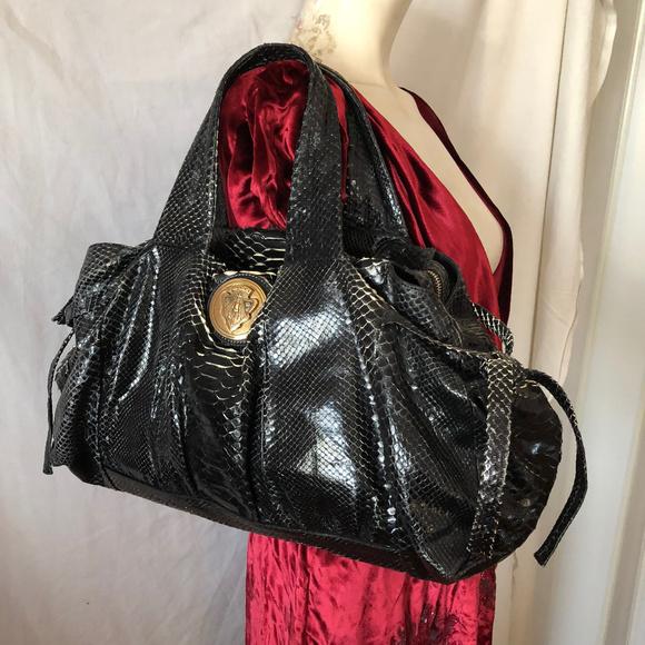 90cb88a43b00 GUCCI Bags | Hysteria Real Python Snakeskin Black Bag | Poshmark